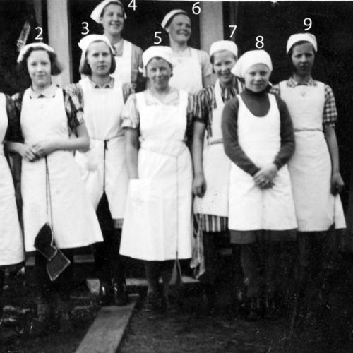 Skolköks klass i Arvidsträsk 1939.