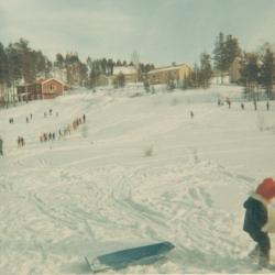 Den s.k. slakteribacken vid Lomtjärn i slutet på 1960-talet.