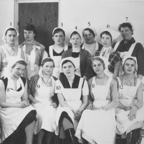 1957-03-04 - 1957-04-30 fortsättningsskolan i Korsträsk