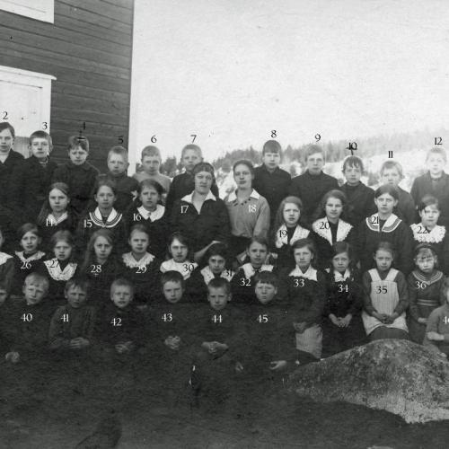 1917 skolbarn i Korsträskbyn