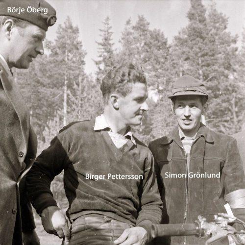 Birger Pettersson Simon Grönlund och Börje Öberg