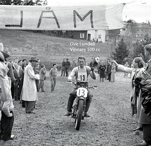 Ove Lundell vinnare 500 cc