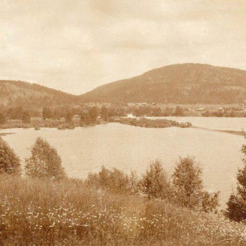 Utsikt mot Norra Byn 1946