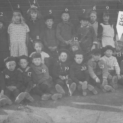 1920 talet skolklass på Byn