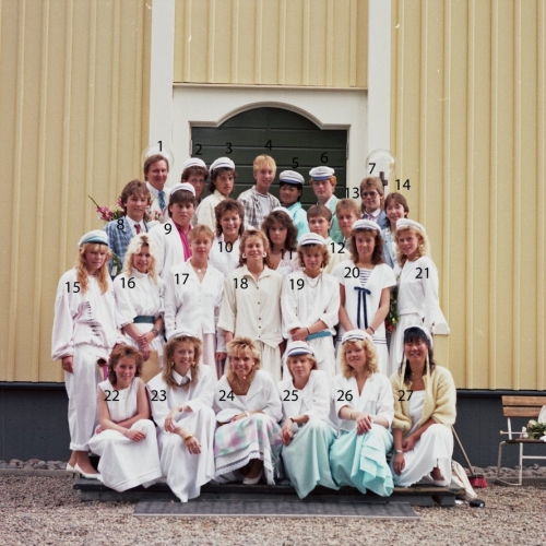 1987 Klass 9 examen i Älvsby kyrka