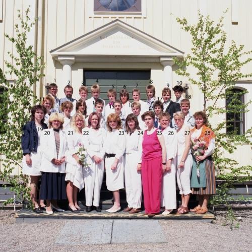 1989 Klass 9 C examen i Älvsby kyrka