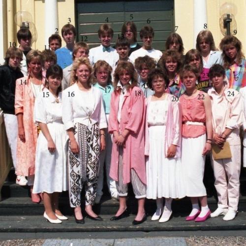 1986 9 B examen i Älvsby kyrka
