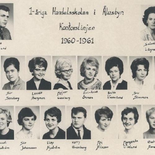 Handelsskolan i Älvsbyn 1960-1961.