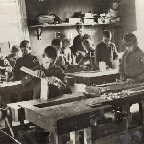 1920 -talet träslöjd elever