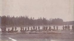 Flottare med båtar