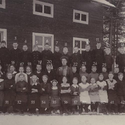 1913 Klass kort från Tväråselet