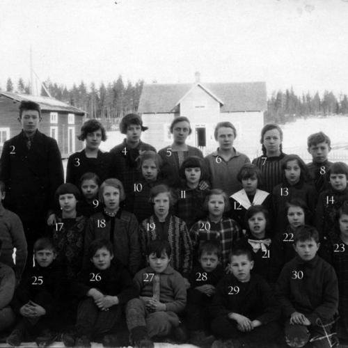 1929-30 Skolkort Tvärsel
