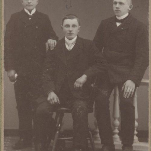 Bröderna Anders och Petter Eriksson Brattfors samt Karl Berggren Muskus