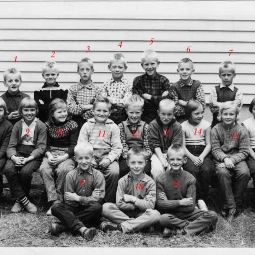 1959 skolaklass i Vistbäcken