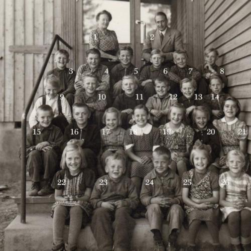 1946 skolklass Vistbäcken