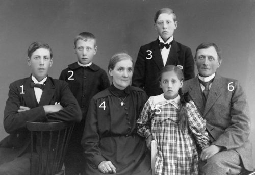Familjen Johan Lundström Granträsk.
