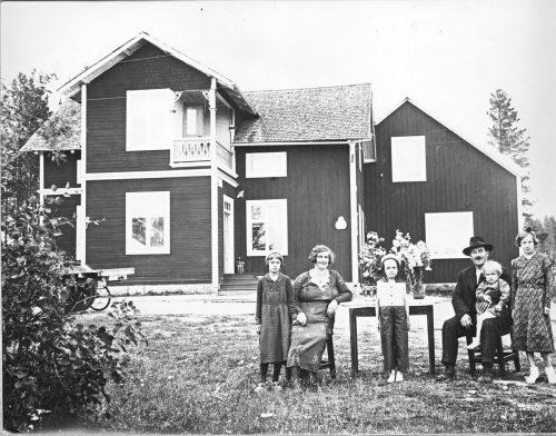 Familjen Oskar Pettersson Granträsk 1935