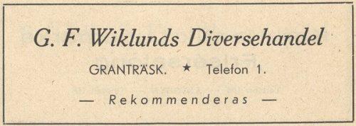 G.F.Wiklunds