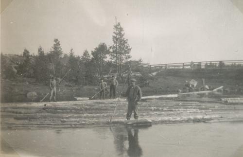 Granträsk 1931 Flottningsarbete