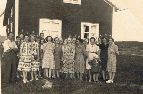 Symöte hos Lundströms i Granträsk