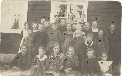 Söndags skolan i Granträsk 1922
