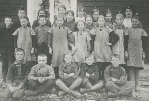 1921 Skolbarn från Granträsk