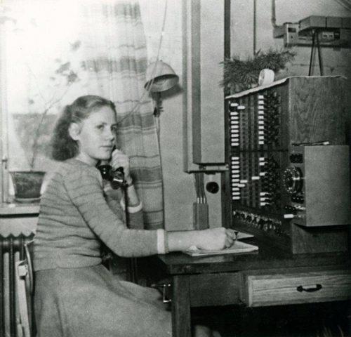 Växeltelefonist, men vem är hon?