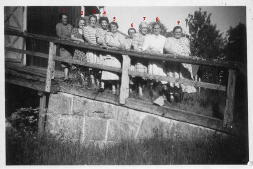 Husmoders semester 1951 eller 1952 på Fårön i Piteå