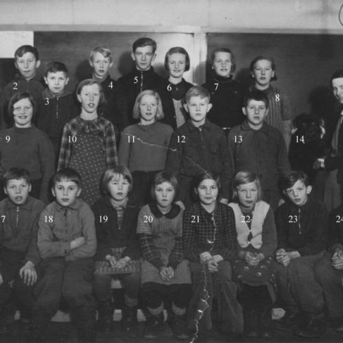 1935 Skolklass i Högheden