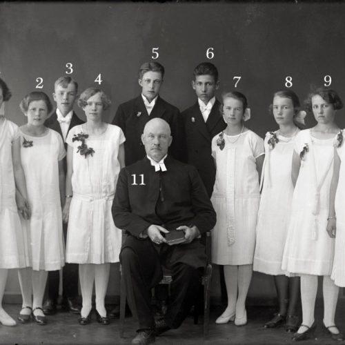Konfirmander i Älvsbyn troligen 1923 eller 1924