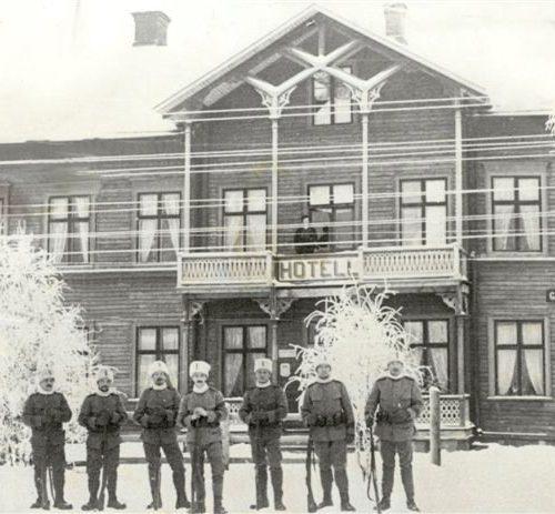Järnvägshotell i Älvsbyn år 1914