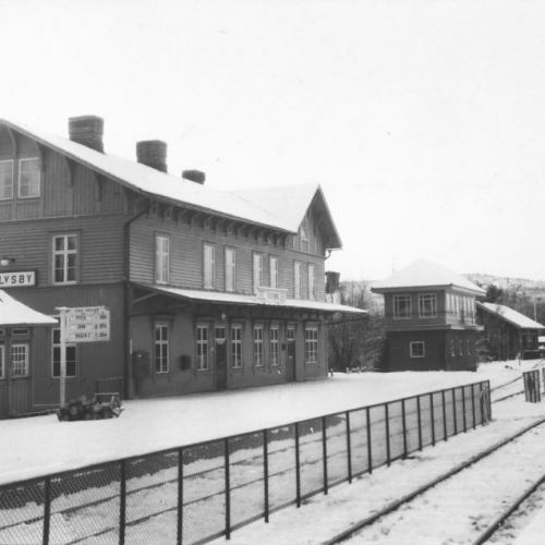 Älvsby järnvägsstation med ställverket