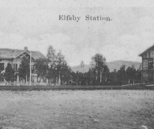 Elfsby Järnvägs station 1901