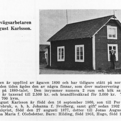 Järnvägsarbetare Jonas August Karlsson