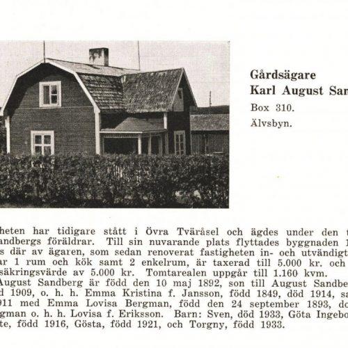 Gårdsägare Karl August Sandberg