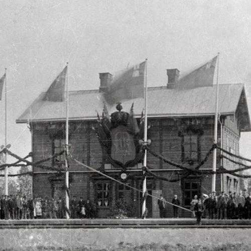 Stambanans invigning Augusti 1894
