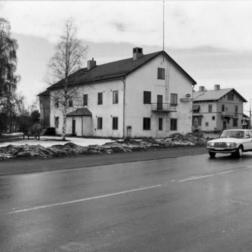 Järnvägshotellets baksida 1985