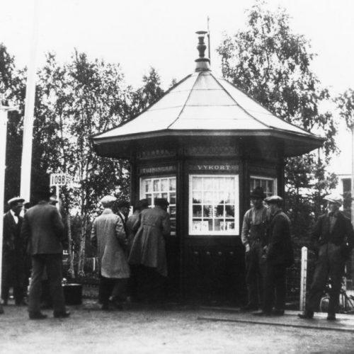 Järnvägskiosken i Älvsbyn 1925