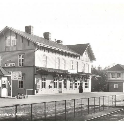 Älvsby Järnvägsstation sommaren 1934
