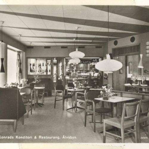 Konrads konditori och restaurang 1956