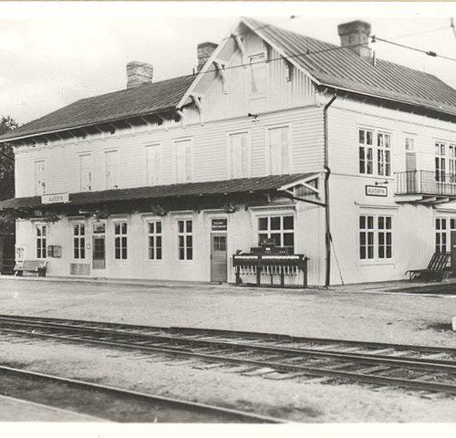 Järnvägsstation i Älvsbyn 1950-talet