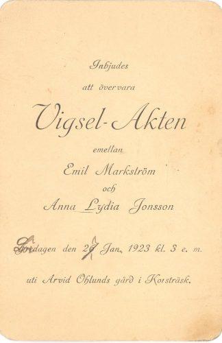 Emil Markström och Anna Lydia Jonsson