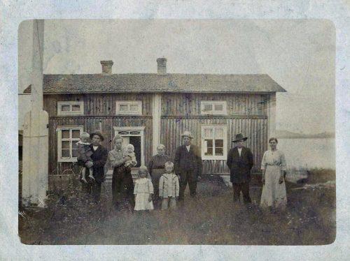1917 vy-kort från Korstträsk