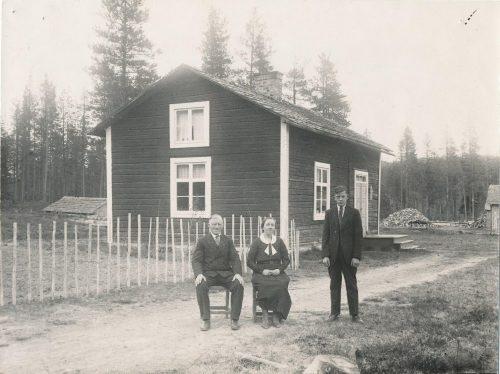 Familjen Karl Björks hus i Flurheden 1933