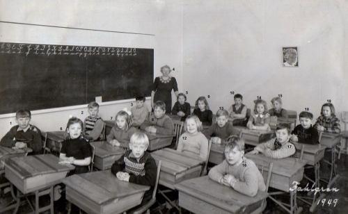 Klass 2 - 1949 Kvarnhedens skola
