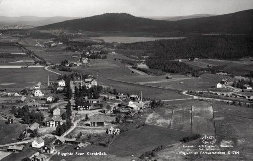 1937 flygfoto över Korsträsk