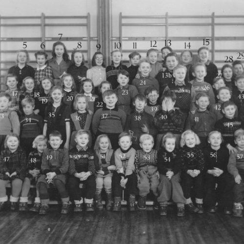 1945 eller1947 skolkort Korsträsk
