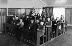 Skolklass f.1921-22 Korsträskbyn