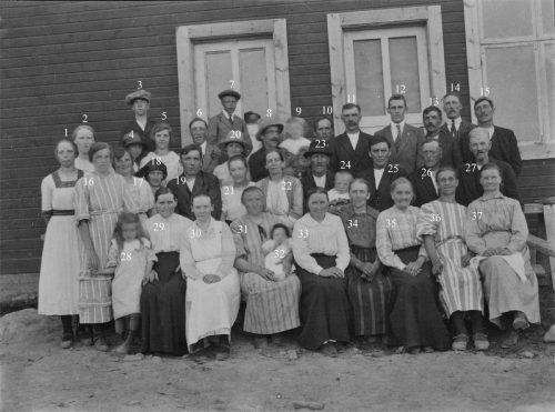 1924 invigning av skolan i Laduberg