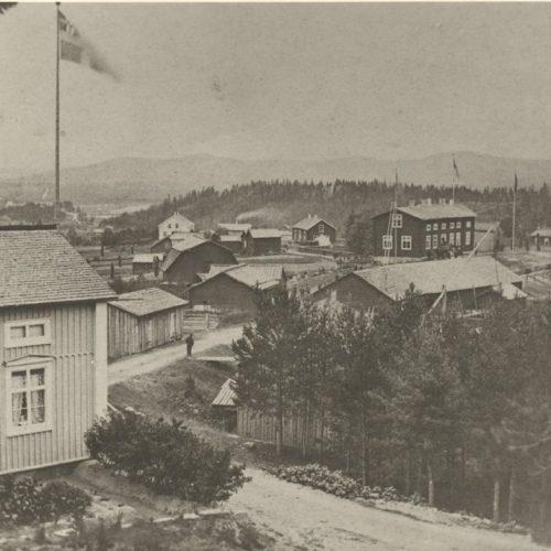 Älvsbyns centrala del år 1884